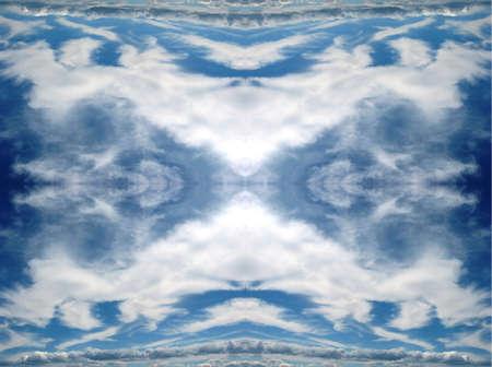 Clouds kaleidoscope Imagens