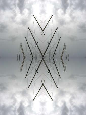 Stormy masts kaleidoscope