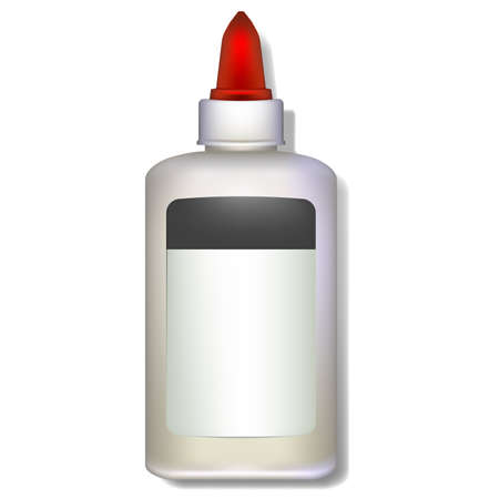 arts and crafts: A vector image of a bottle of white school glue. useful image for school concepts.