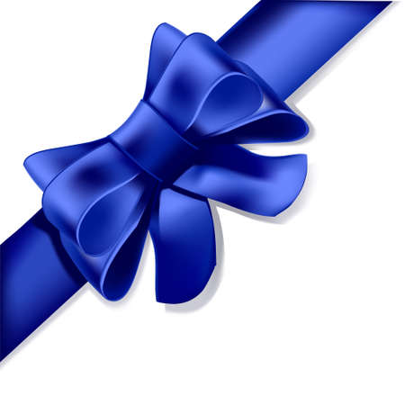 ribbon: A Blue ribbon, such as you would present on a gift, a decoration, or to your anniversary love...