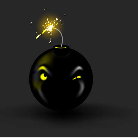 A bomb cartoon. Great depiction of stress, anger, or a gift youd like to give your boss. Vector