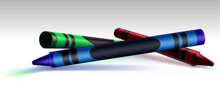meant: Rosso, Verde, Blu (RGB), pastelli creato per essere un elemento di design versatile. Torna a scuola, la teoria dei colori, � il nome! La zona scura sulla pastello blu � significato per la tua scrittura. Vettoriali