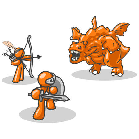 conquering: A concept created to show teamwork, conquering personal and external obstacles, financial and the like. Naturally, the orange man characters play this very well.
