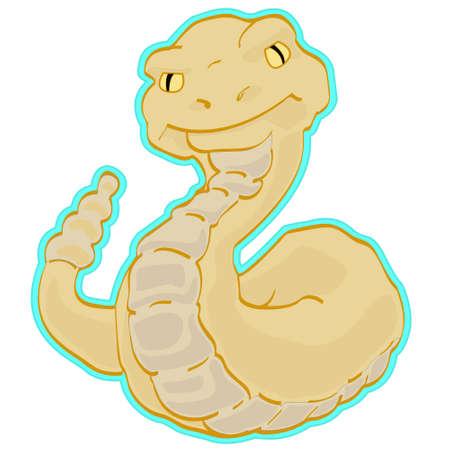 serpiente de cascabel: Es un sonajero de serpiente. Niza gen�rico imagen de un desierto unintimidating animal