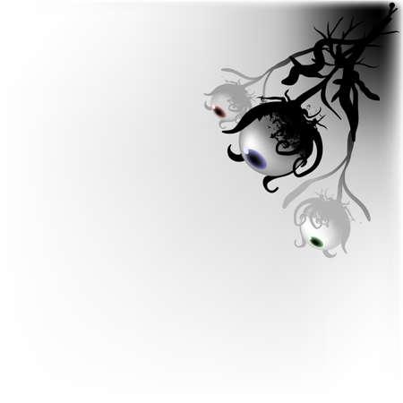 eye ball: Tres ojo pelota criaturas que crecen fuera de un oscuro rinc�n, buscando a alguien que se siente como que se les vio. Buena parte de cualquier elemento misterioso dise�o.