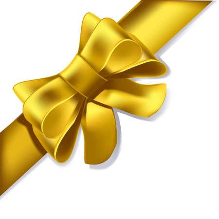 aniversario: Una cinta amarilla, como usted se presente en un regalo, una decoraci�n, o para su aniversario amor ...  Vectores