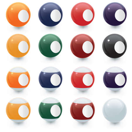 9 ball: Pool Balls Blank Areas Illustration