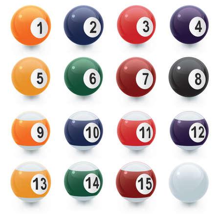 Pool Ball Icons Vector