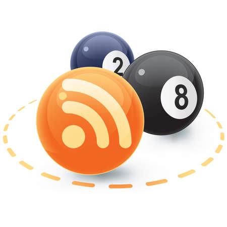 syndication: RSS y bolas de pool  Vectores