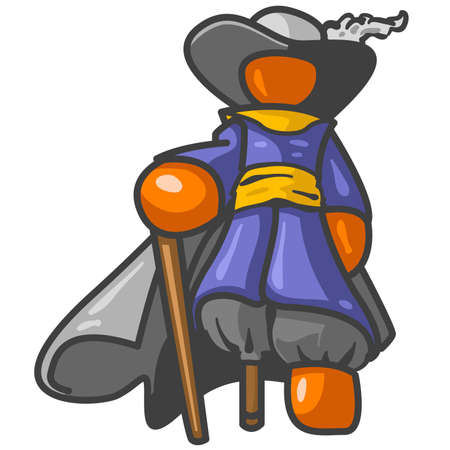 however: A pirate! However, this was actually an orange man concept of Peter Stuyvesant, a historical figure. Illustration