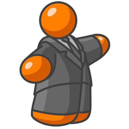 politicians: A large orange man