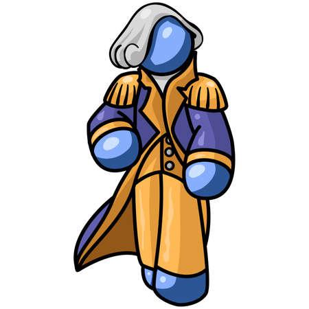 Blue man George Washington Stock Vector - 2450940