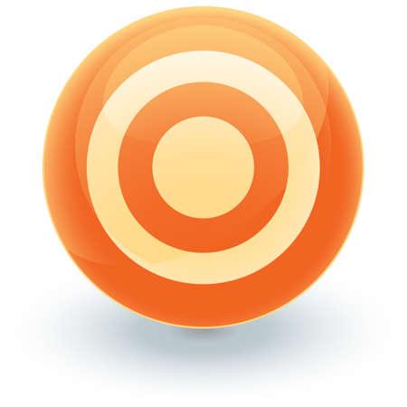 Orange Target Icon Stock Vector - 2631880