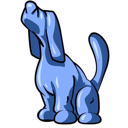 bloodhound: Blue Tick Hound Sniffing