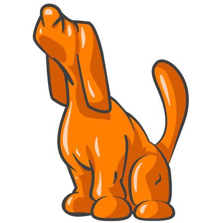 bloodhound: Orange Tick Hound Sniffing