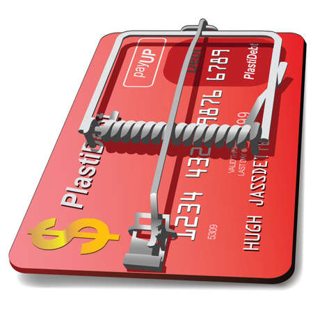 A credit card trap signifying predatory lending.