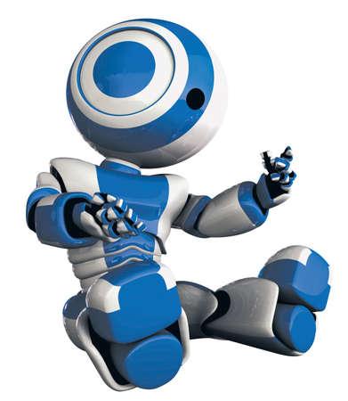 robot: A patrząc na błyszczące robota jego ręce w zamyślonych, jak widzę, gdy się po raz pierwszy. Koncepcja odkrycie może w siebie, albo są nowe.