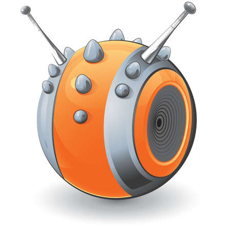 A vector illustration of an orange studded object abstractly designed to grace any project! Vector