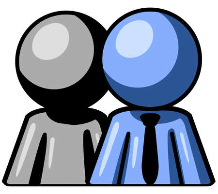 Two men standing side by side. Stock Vector - 3138046