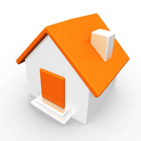 retirement home: A small orange home, created as a simple representation of a home page or generic concept.