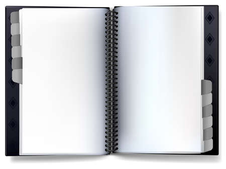 binder: A notebook organizer spiral binder with Blank Area for your own copy, text, or design.