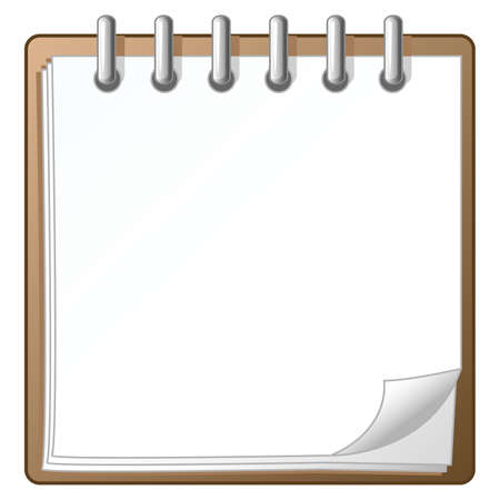 A daily organizer callender blank for your copy, text, or design.  Illustration