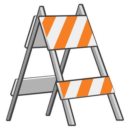 blocco stradale: Un blocco stradale elemento per dimostrare il concetto Under Construction. Vettoriali