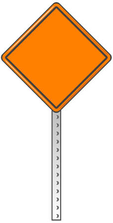 roadblock:  A traffic sign with blank area for your own text or design.  Illustration