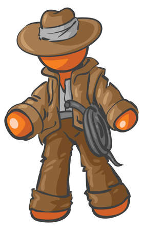 A design Mascot Adventurer.