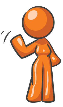 A design mascot woman waving. Stock Vector - 5138691