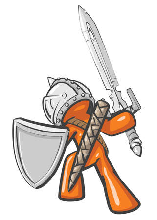 longsword: A design mascot ultimate warrior.