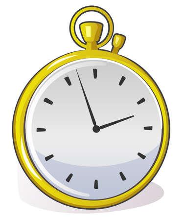 done: A golden stop watch done in vector art.