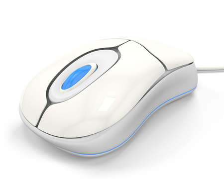computer mouse: 3D White Computer Mouse;