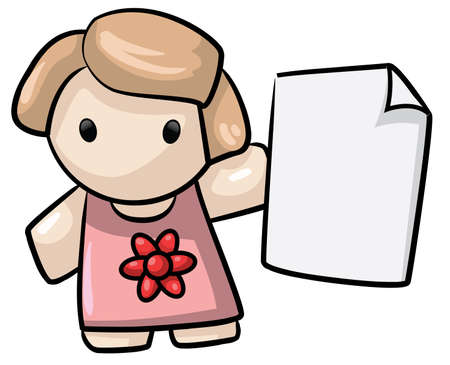 text area: Lady With Blank Paper For Text Area