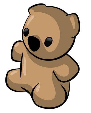 A cute teddy bear.  photo