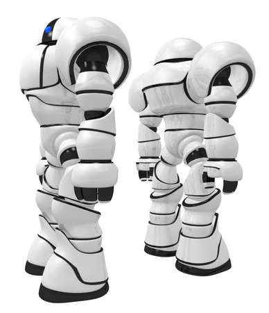 gaurd: Giant Robot Behomoths  standing tall back to back on gaurd duty.