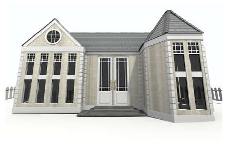 new opportunity: 3d illustration of new home.