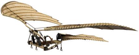da vinci: Da vinci flyingmachine ornithopter 3d concept.