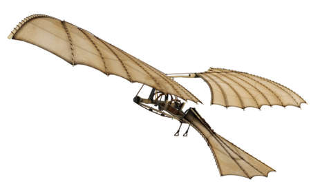 hellenic: Da vinci flying machine ornithopter 3d concept.