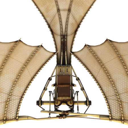 Da vinci flyingmachine ornithopter 3d concept.