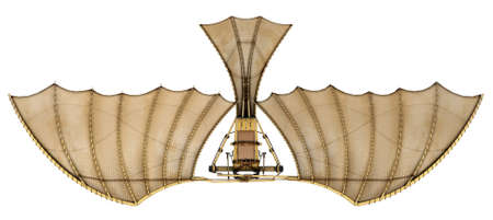 it is interesting: Da vinci flyingmachine ornithopter 3d concept.