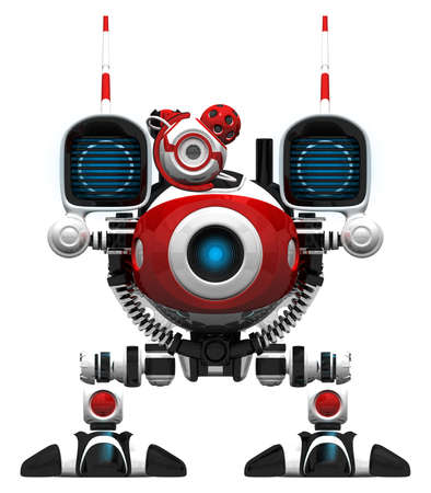 orthographic: Webcam Robot, frontal orthographic view. Stock Photo