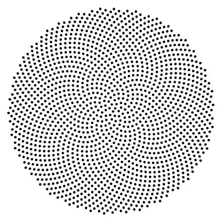 espiral: 1597 puntos generados en la espiral de proporci�n �urea, las posiciones de precisi�n de 10 digits.1597 es un n�mero Fibonacci, tambi�n. Foto de archivo