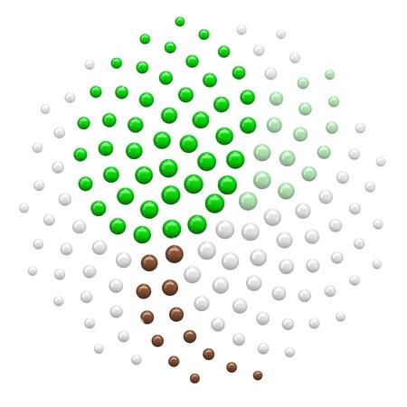 nombre d or: Spirale de Fibonacci contenant verte conception abstraite de la feuille. Le nombre d'or se trouve partout dans la nature. Banque d'images