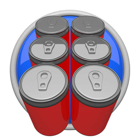 Six pack of soda, icon form.