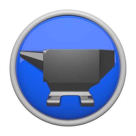 anvil: Anvil icon, metalic blue.