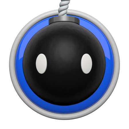 Bomb character icon. photo