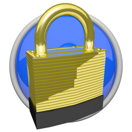 denote: Icon of a gold lock. Is gold really that strong? Perhaps it can denote quality security!