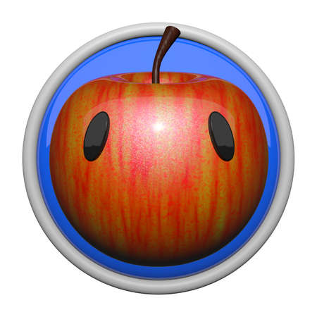 Cute icon of apple, health symbol. photo