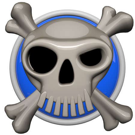 anarchy: Skull icon, danger or warning concept. Stock Photo